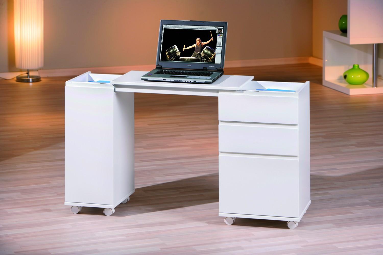 Bureau laptop office extensible 66121 for Meuble bureau 30 cm