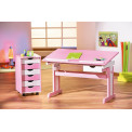 Bureau Junior CECILIA 109x55 rose règlable