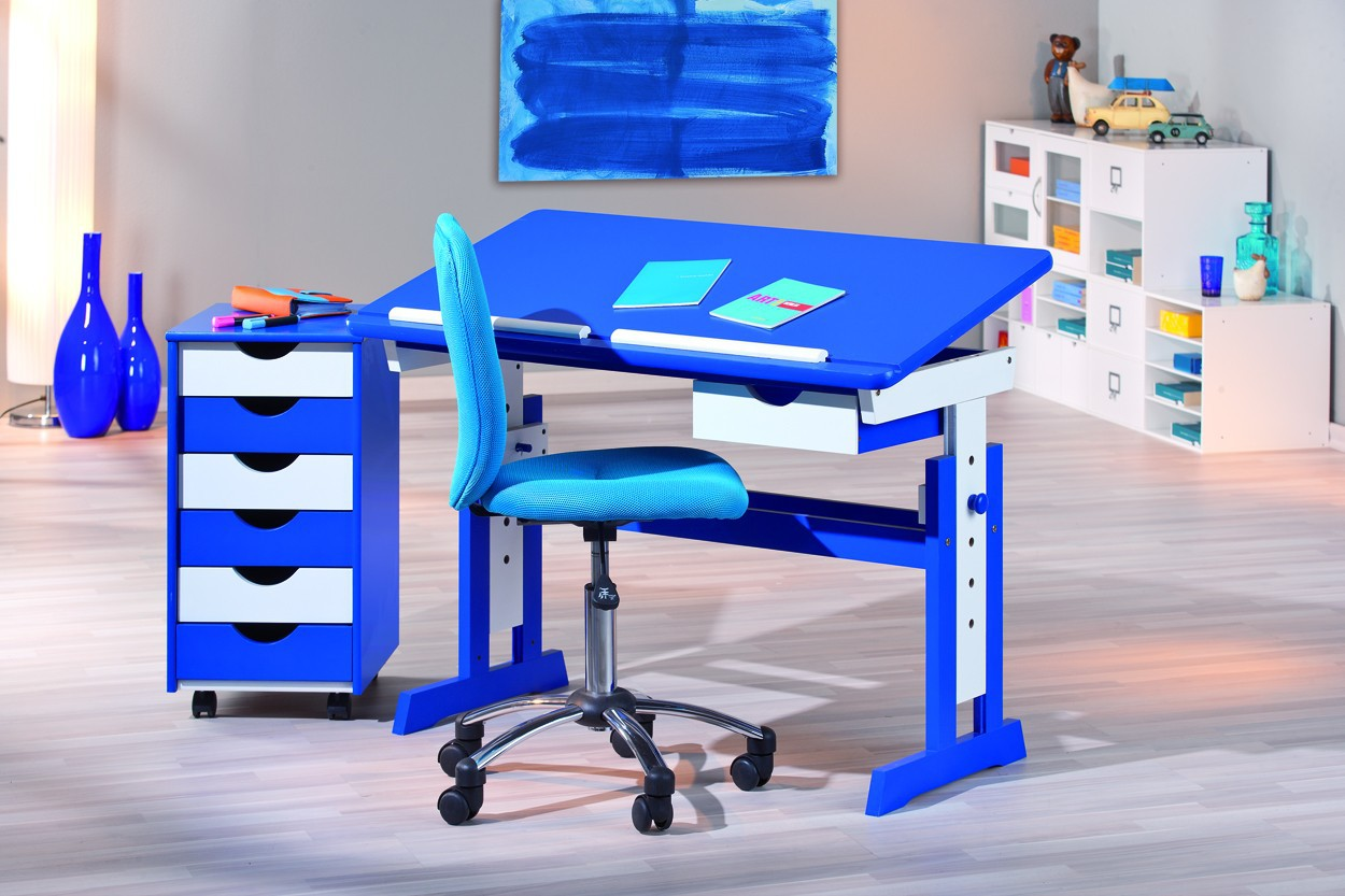Bureau junior bureau junior parme avec 1 niche et 1 for Meuble bureau junior