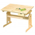 Bureau Junior JULIA 109x55 Naturel règlable