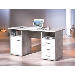 FLORIAN bureau gris et blanc