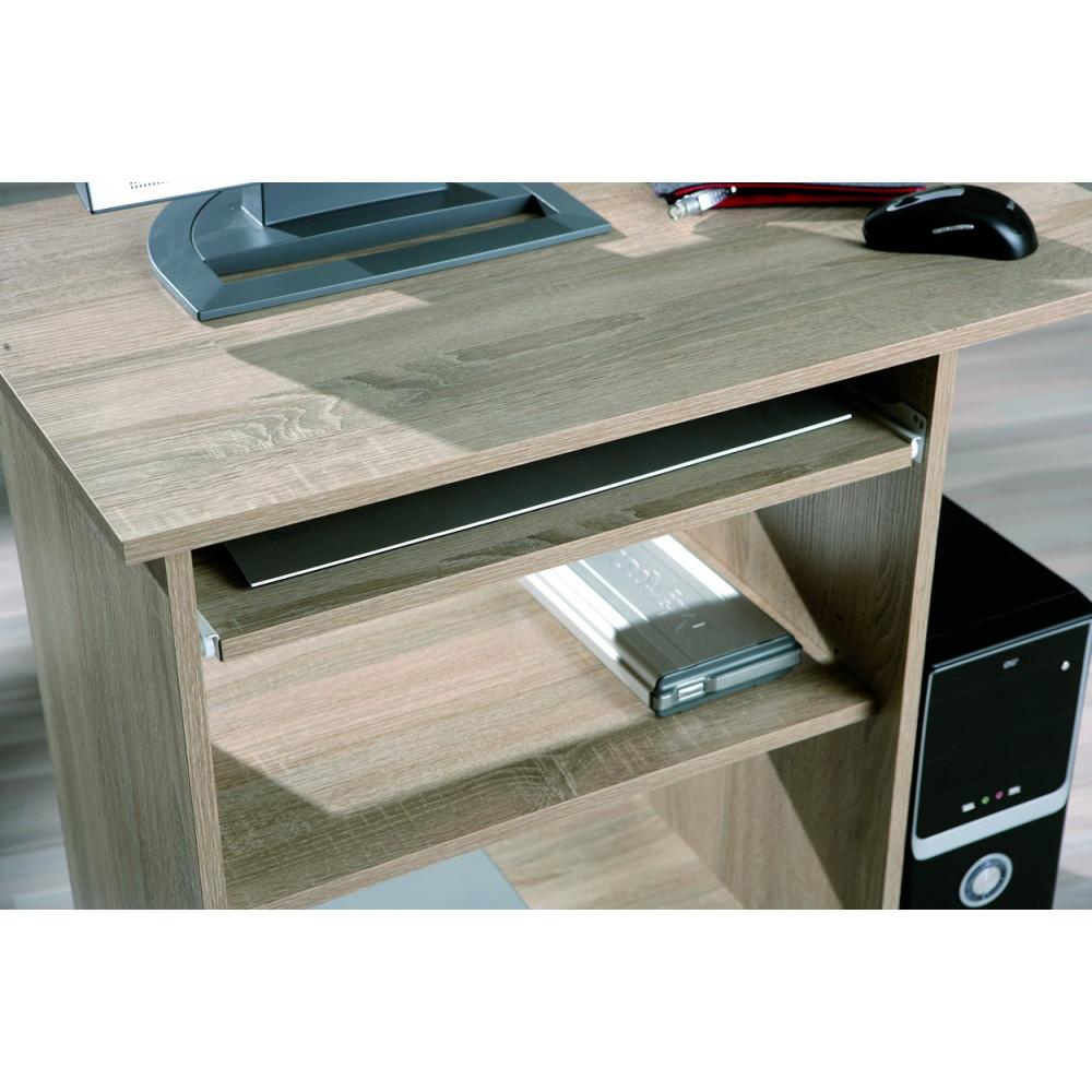 bureau mobile durini 80x50 sonoma chene. Black Bedroom Furniture Sets. Home Design Ideas