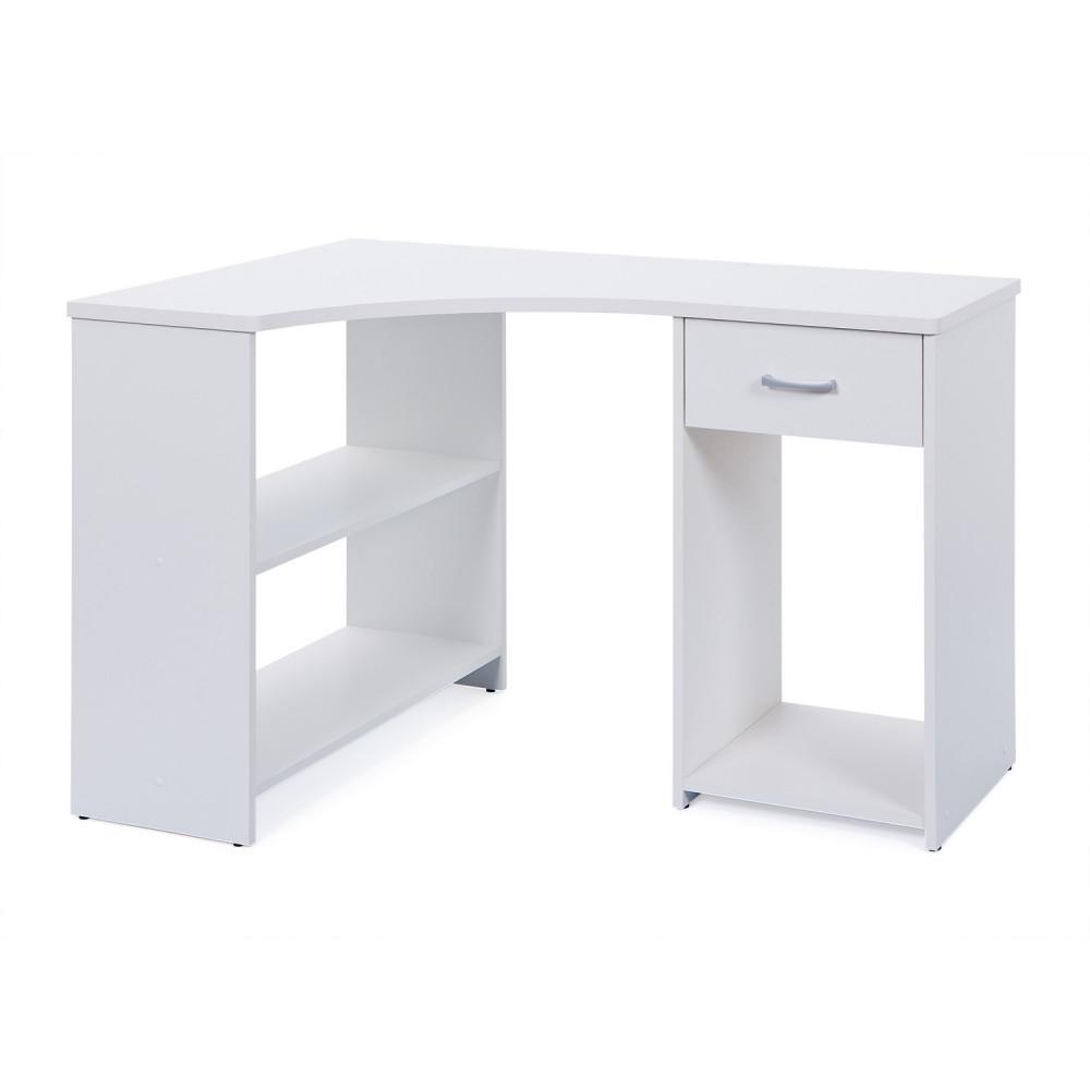 Bureau d angle grossi 118 x 79 blanc - Bureau d angle blanc ...