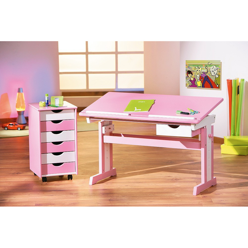 caisson mobile pierre rose et blanc. Black Bedroom Furniture Sets. Home Design Ideas