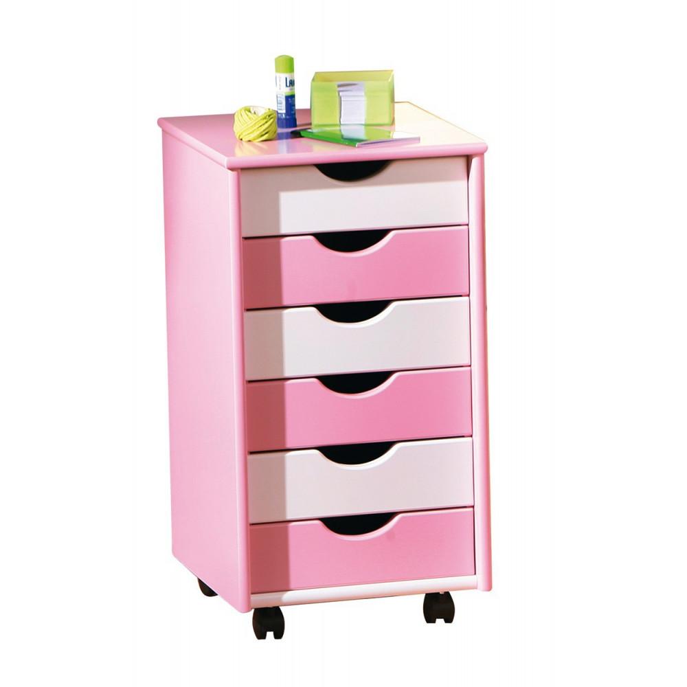Caisson mobile pierre rose et blanc - Bureau blanc et rose ...