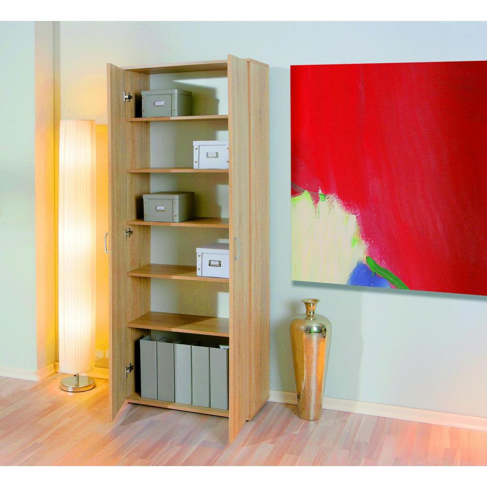 armoire gallo 189x70 chene. Black Bedroom Furniture Sets. Home Design Ideas