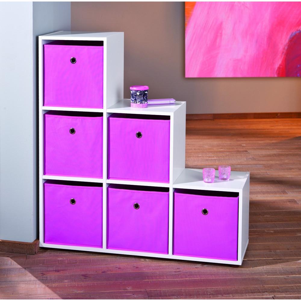 etageres escalier cadore 6 cases 180x60 blanche. Black Bedroom Furniture Sets. Home Design Ideas