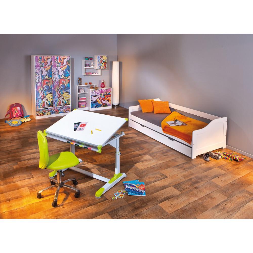 commode moderne graffity 2 portes coulissantes 1 tiroir. Black Bedroom Furniture Sets. Home Design Ideas