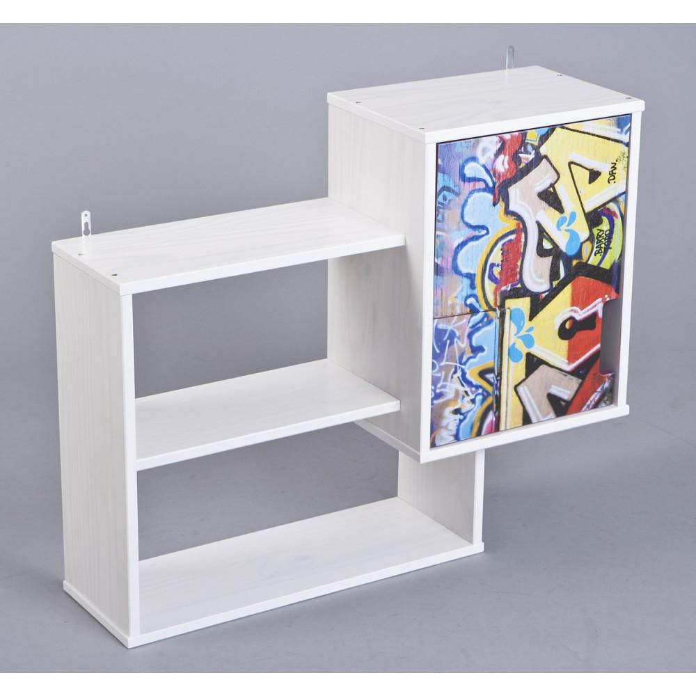 etagere coffre graffiti 1 porte. Black Bedroom Furniture Sets. Home Design Ideas