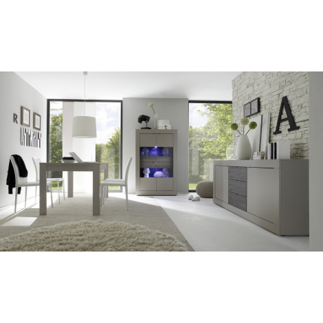 salle manger compl te taupe composer offre discount. Black Bedroom Furniture Sets. Home Design Ideas
