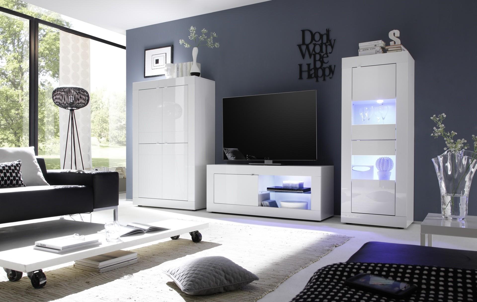 Ensemble De Salon Blanc 3 Pi Ces Prix Discount Qualit Italienne # Meuble Salon Design Laque Blanc