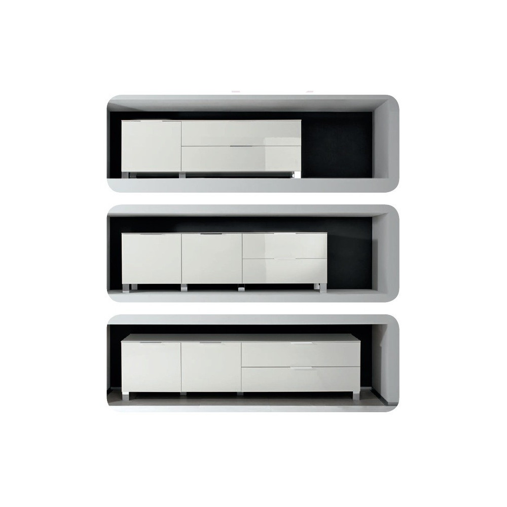 meuble tv blanc qualit italienne prix discount. Black Bedroom Furniture Sets. Home Design Ideas