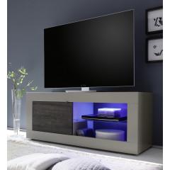 Meuble TV TORONTO Beige et wengé