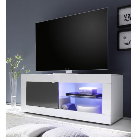 Meuble TV TORONTO blanc et anthracite