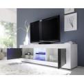 Meuble TV TORONTO long Blanc et Anthracite