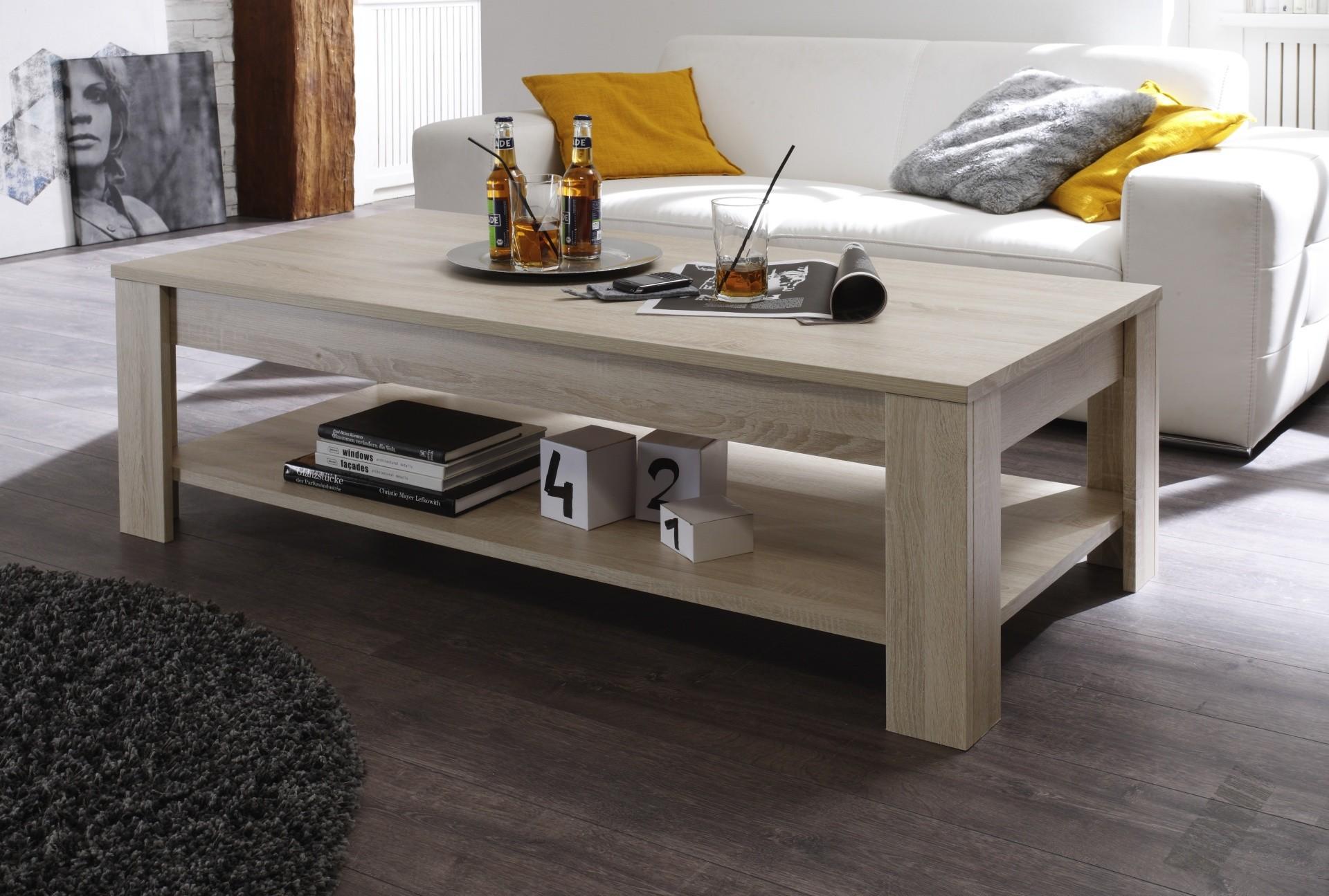 Table basse de salon rustica ch ne clair prix discount - Meuble salon chene clair ...