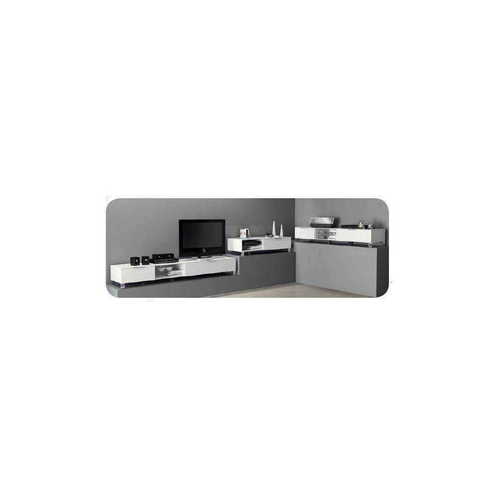 meuble tv blanc qualit italienne prix discount 3 dimensions. Black Bedroom Furniture Sets. Home Design Ideas