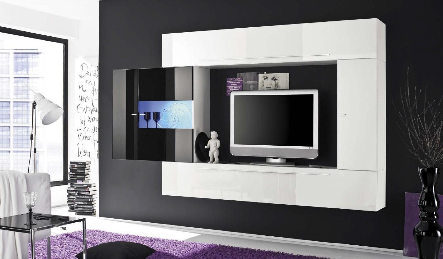 Meuble sous tv murale meubles de design d for Meuble tv 2m long