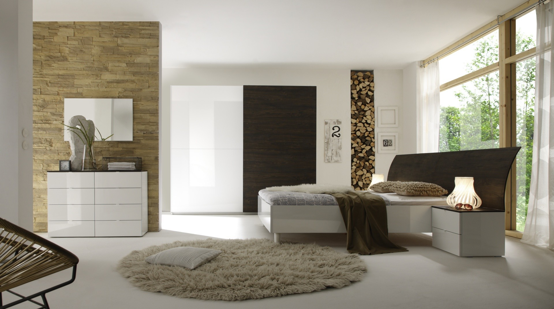 chambre a coucher 3 couleurs disponibles moderne prix promo. Black Bedroom Furniture Sets. Home Design Ideas