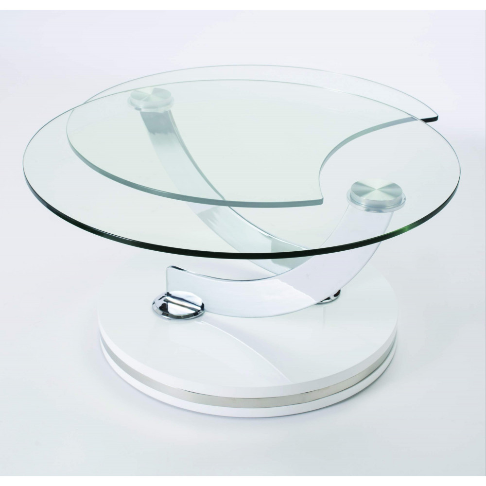 Table basse en verre double plateau - Table italienne en verre ...