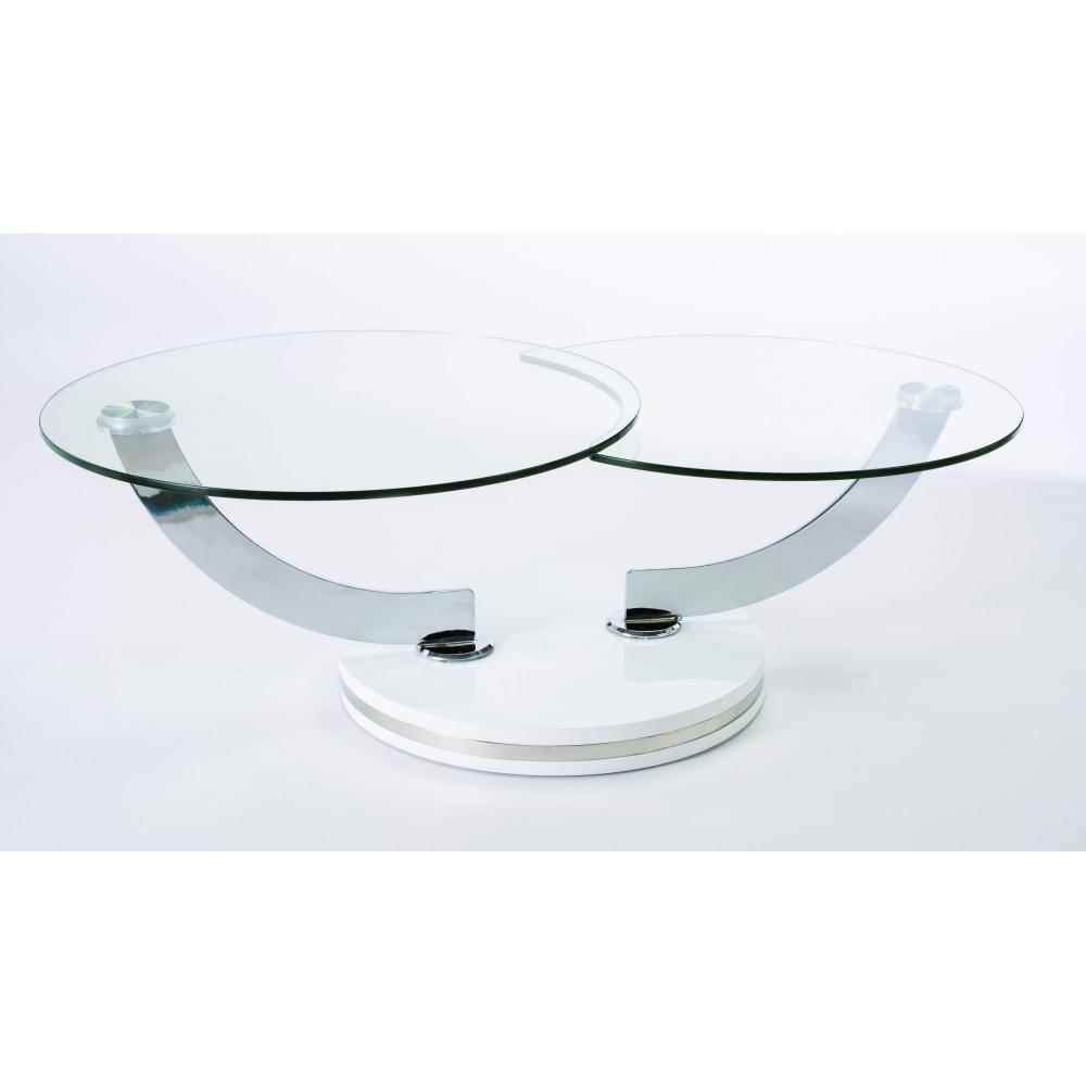Table basse galaxy verre double plateau - Plateau de verre pour table basse ...