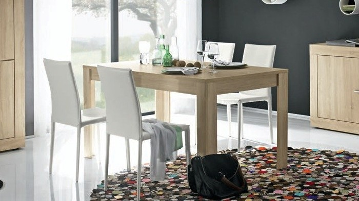 table de salle a manger moderne chene clair diff rentes. Black Bedroom Furniture Sets. Home Design Ideas