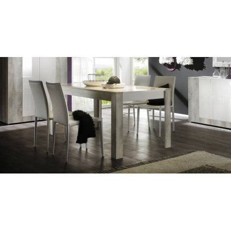 Table de salle a manger moderne blanche mar diff rentes for Table salle a manger 70 cm de large