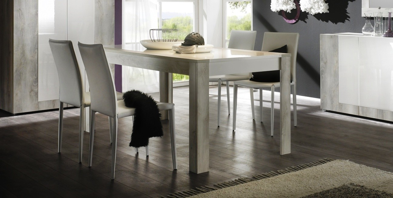 Table de salle a manger moderne blanche mar diff rentes for Table salle a manger mobilier de france