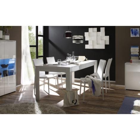 Table de salle a manger moderne blanche sor diff rentes for Dimension d une table de salle a manger