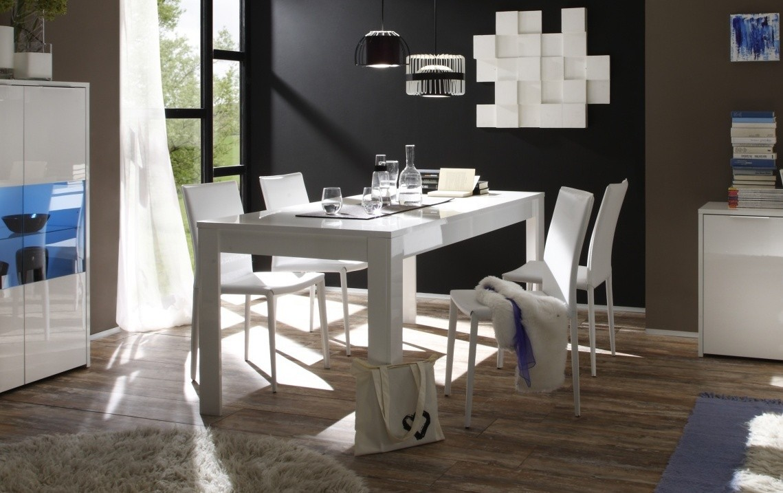 salle manger blanche table salle manger carree blanche salle a manger complete blanc laque. Black Bedroom Furniture Sets. Home Design Ideas