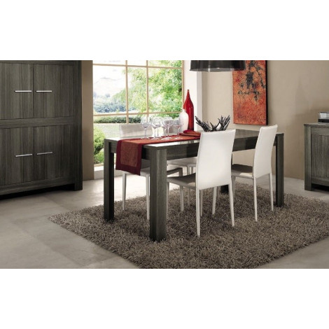 table de salle a manger moderne chene gris diff rentes dimensions. Black Bedroom Furniture Sets. Home Design Ideas