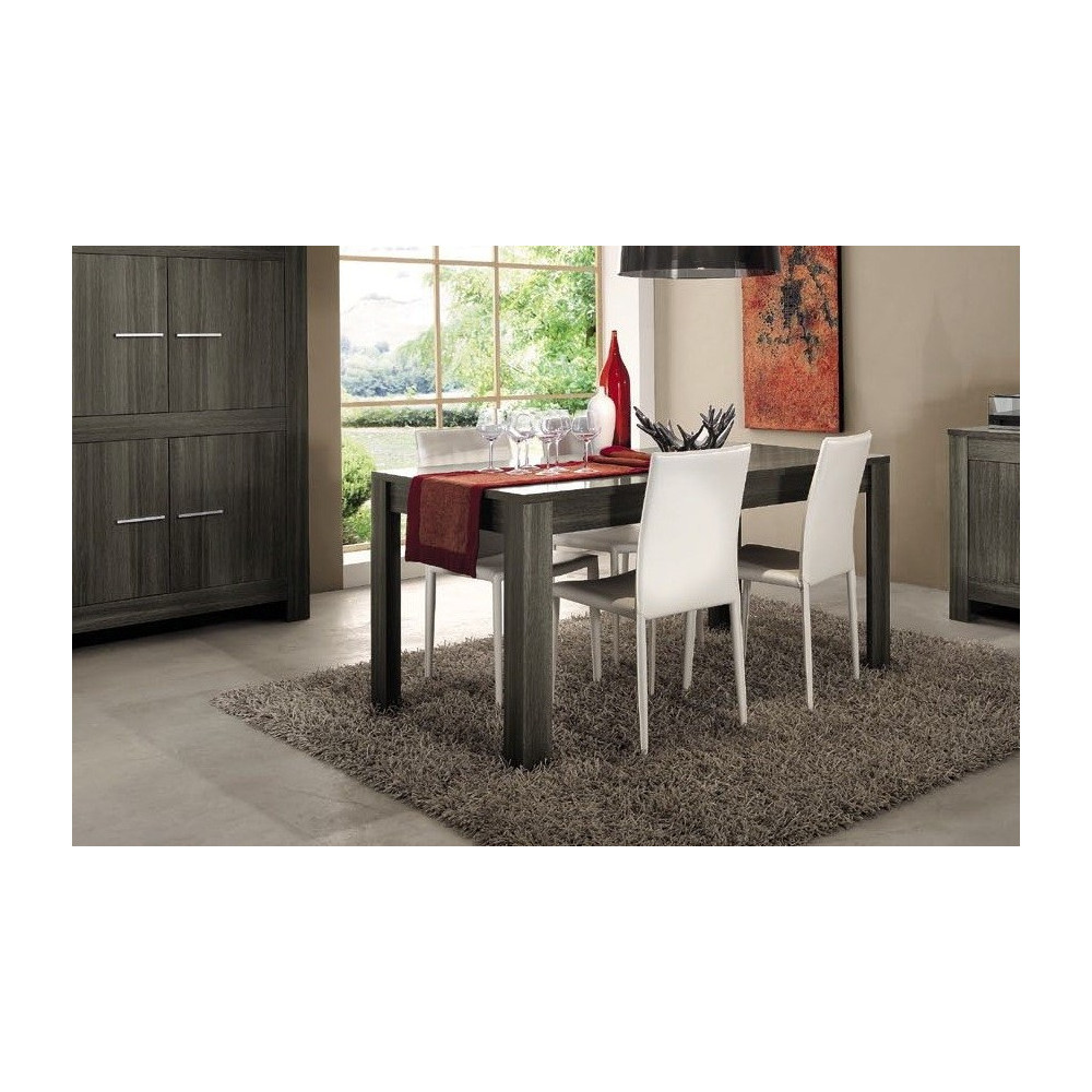 Table de salle a manger moderne chene gris diff rentes for Salle a manger gris