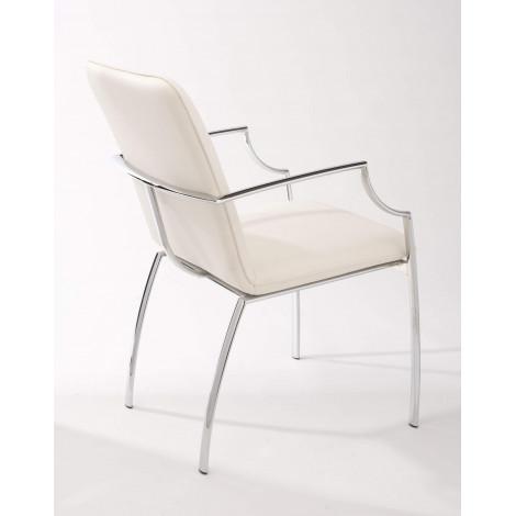fauteuil blanc boston