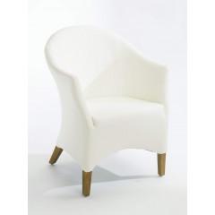 LUIGI fauteuil blanc