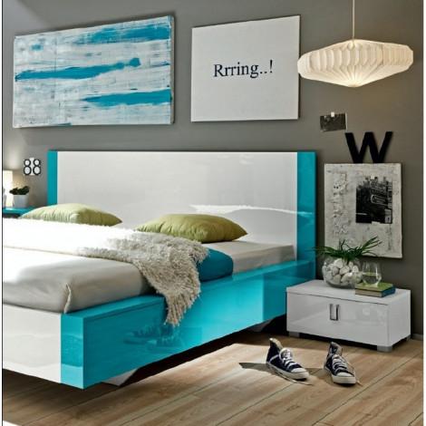 Lit design LINEA tuquoise 180x200