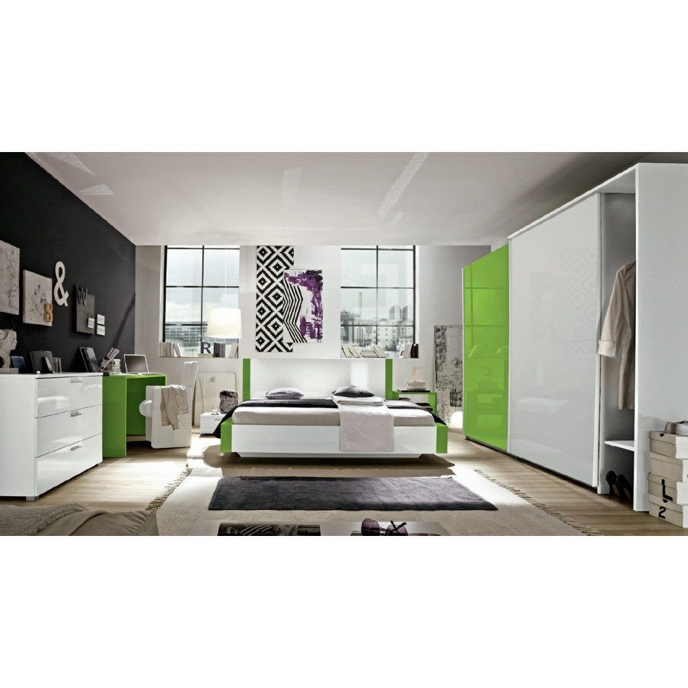 lit design linea 180x200 vert 180x200 prix. Black Bedroom Furniture Sets. Home Design Ideas