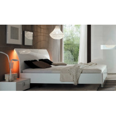 LIT DESIGN Blanc 180x200