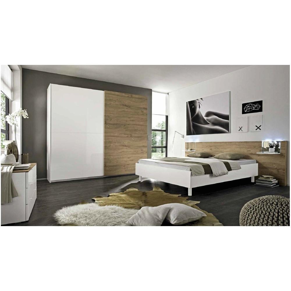 lit moderne 160x200 couleur miel prix exceptionnel. Black Bedroom Furniture Sets. Home Design Ideas