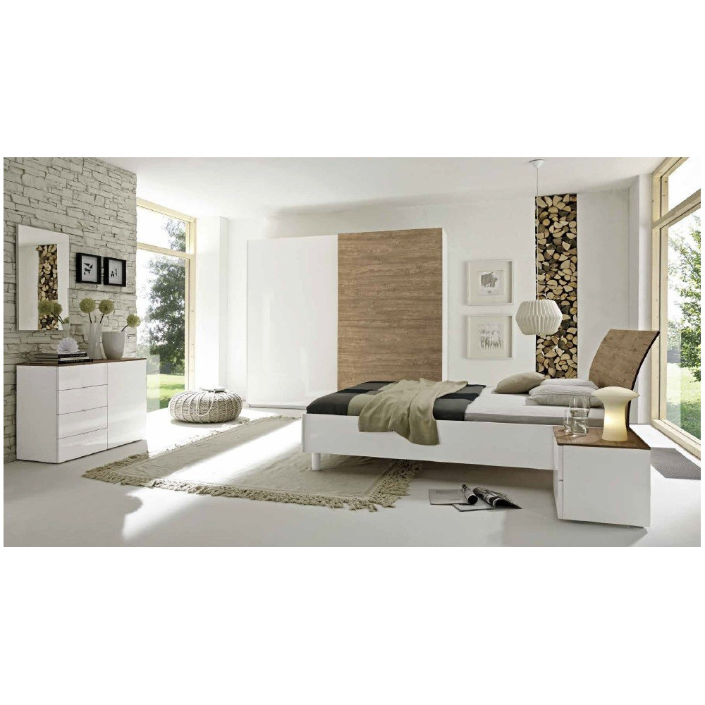 lit moderne weng tete galb e courte 180x200 prix. Black Bedroom Furniture Sets. Home Design Ideas