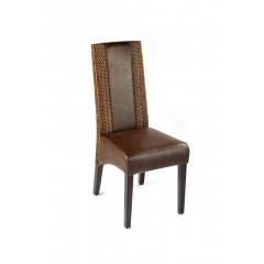 Lot de 2 Chaises CANDICE Café et Marron