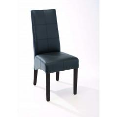 ELOISE chaise noire et pied mahogany