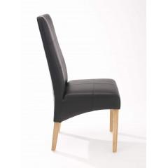 Chaise Suzanne Noire pieds naturel ( lot de 2)