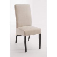 Chaise Sarah Beige pieds Wengé (lot de 2)