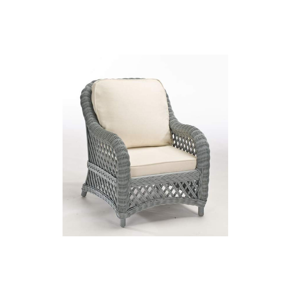 Ensemble salon rotin victoria gris galet for Galet decoratif gris
