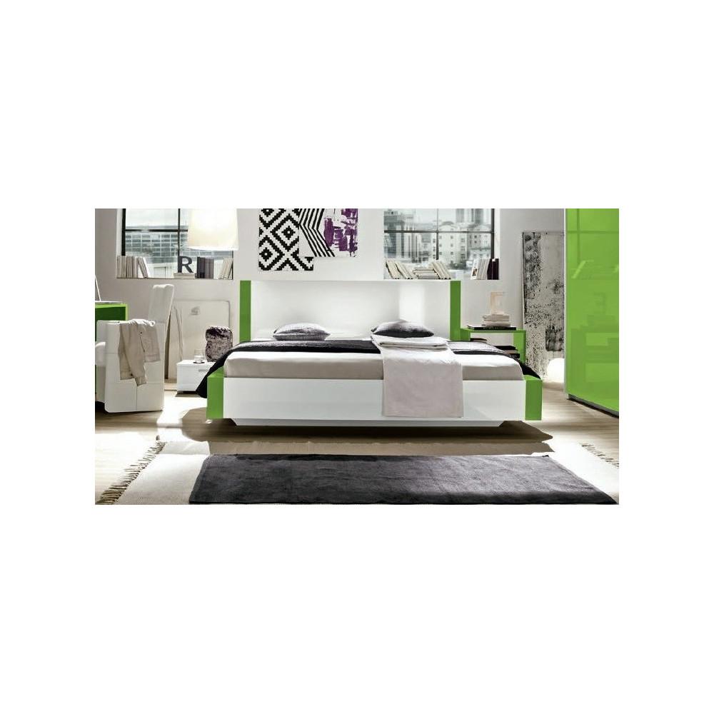 lit design linea 160x200 vert 160x200 prix exceptionnel 8 couleurs. Black Bedroom Furniture Sets. Home Design Ideas