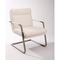 MANGO fauteuil simili cuir blanc