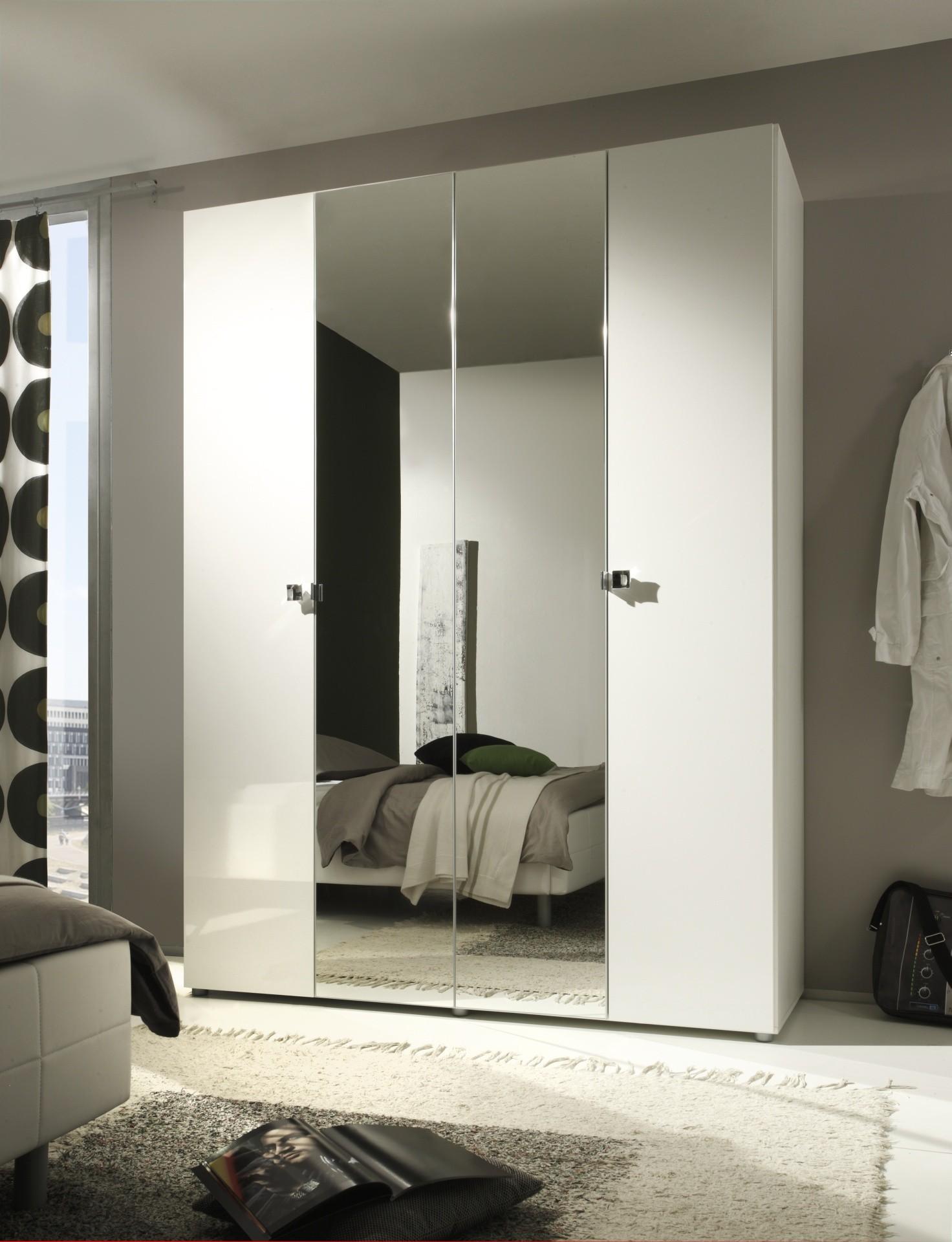 Superbe Armoire Lidia 4 Portes Avec Miroir Prix Exeptionnel # Armoire Blanc Laquee