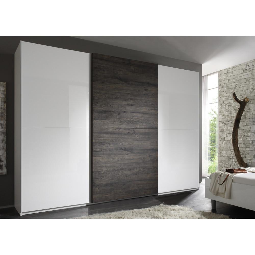 Superbe armoire coulissante diff rentes dimensions prix for Meuble 3 portes coulissantes