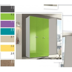 ARMOIRE LINEA COLOR 3 Portes battantes - 120 cm
