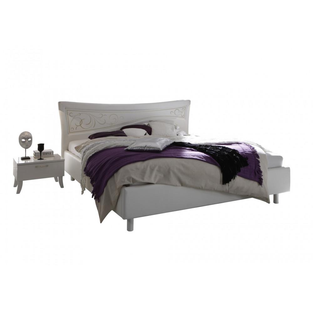 lit sebilla 180x200 laqu blanc prix exeptionnel. Black Bedroom Furniture Sets. Home Design Ideas